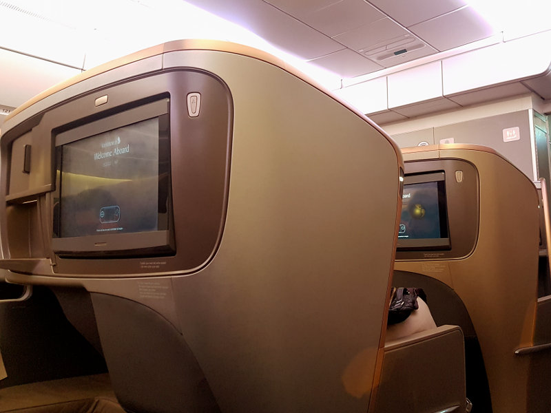 Singapore Business Class - Neues Sitzdesign
