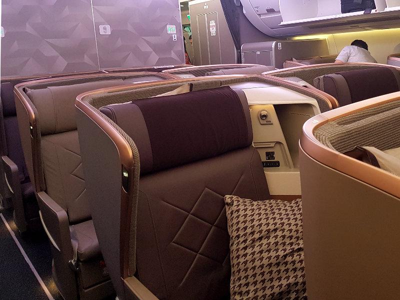 Singapore Business Class - 1-2-1 Sitzanordnung im A350