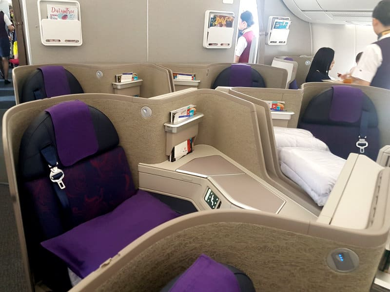 Air China Business Class Moderne Zweiersitze im A350