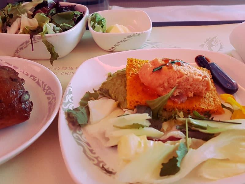 Air China Business Class Erfahrungen Speisen und Getränke