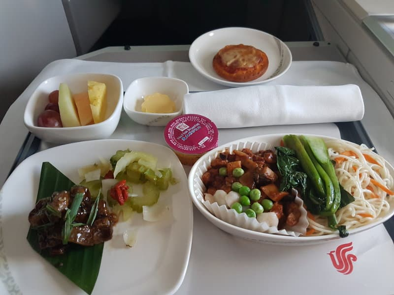 Air China Business Class Erfahrungen Essen