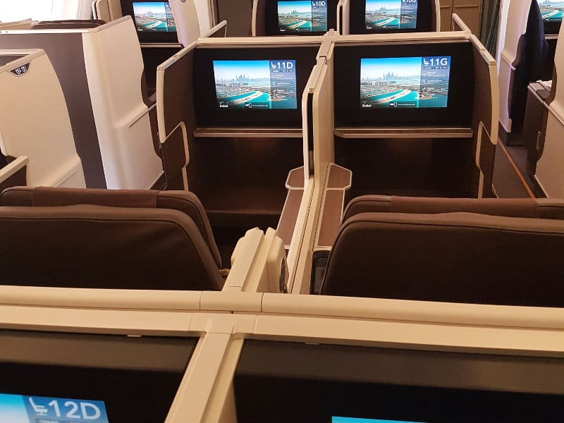 Business Class Sitze bei Oman Air