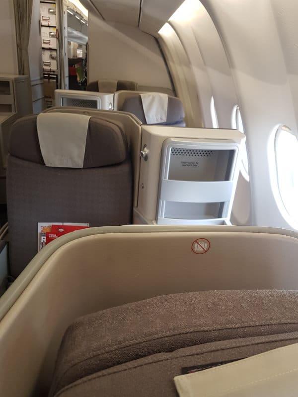 Versetzte Business Class Sitze bei Iberia