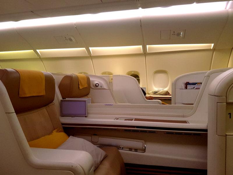 Thai Airways A380 First Class Erfahrung