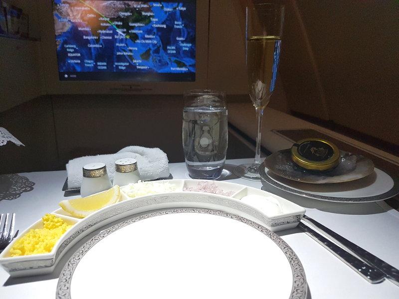 Thai Airways First Class Kaviar