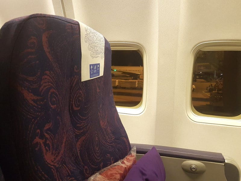Air China Busness Class in Boeing B737
