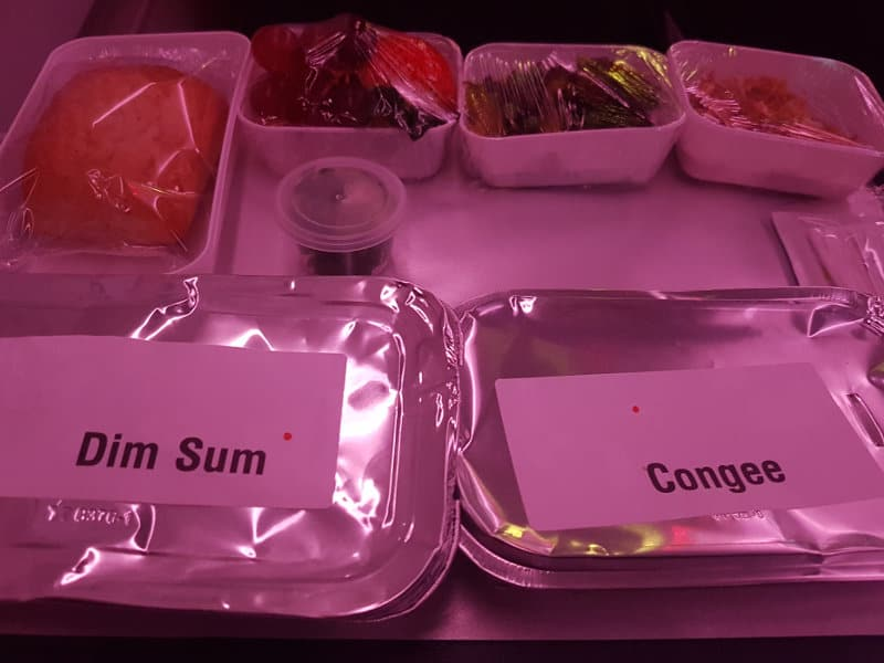 Air China Catering in Eiweggeschirr zu Zeiten von Corona