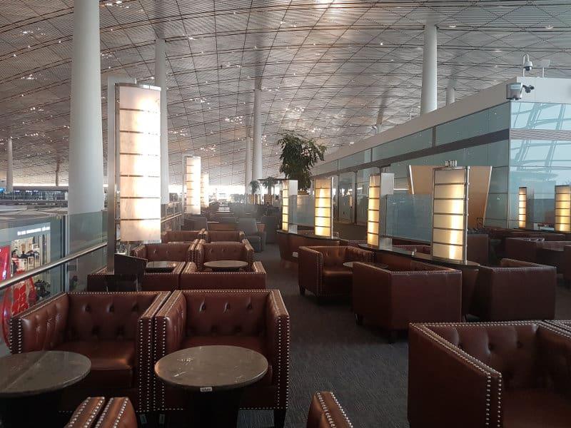Coronavirus: Air China Busness Class Lounge Peking
