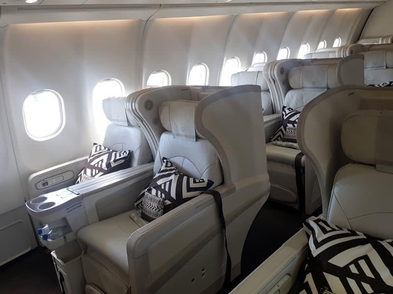 Business Class Sitze im Fiji Airbus A330