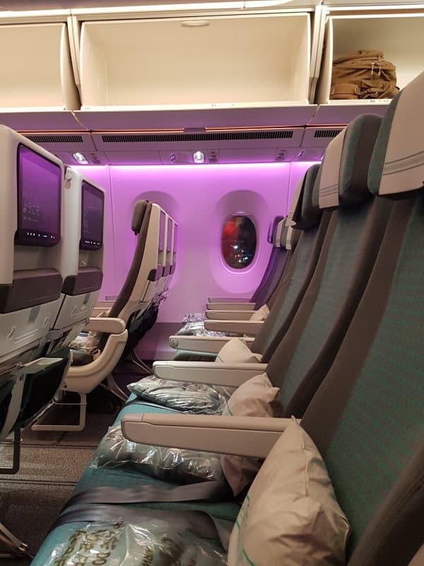 Economy Class Sitze im Fiji Airbus A350