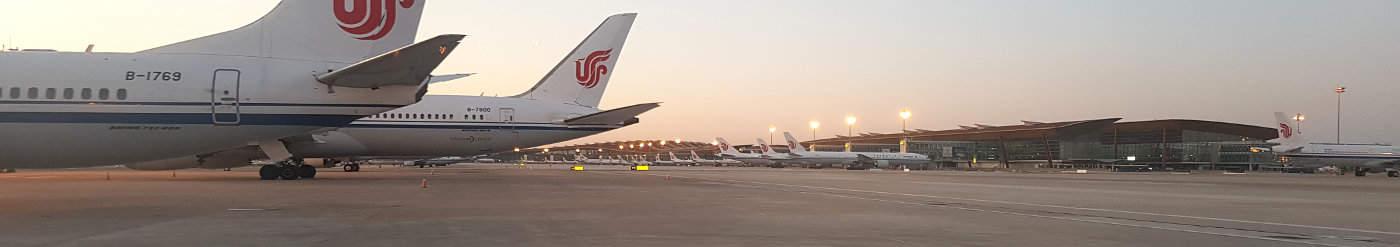 Air China - Flughafen Peking im Bann des Corona Virus