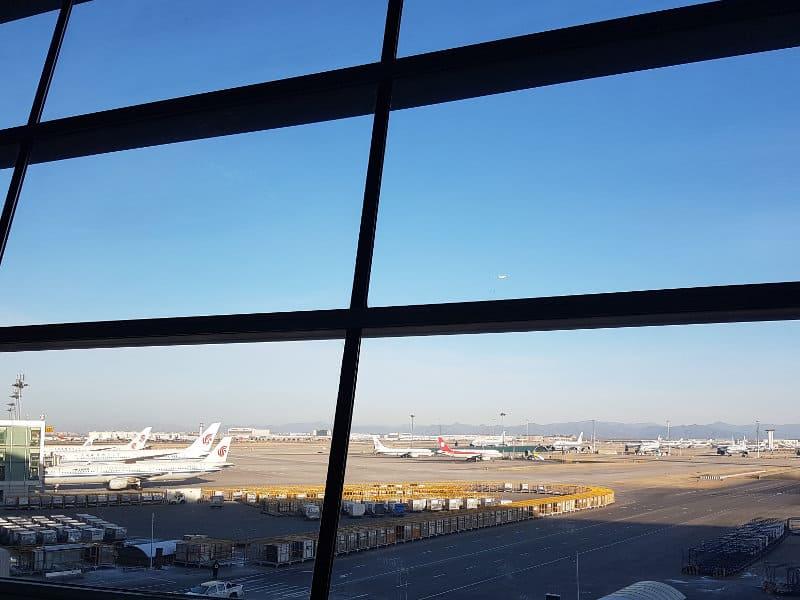 Flughafen Peking stillgelegte Flugzeuge von Air China