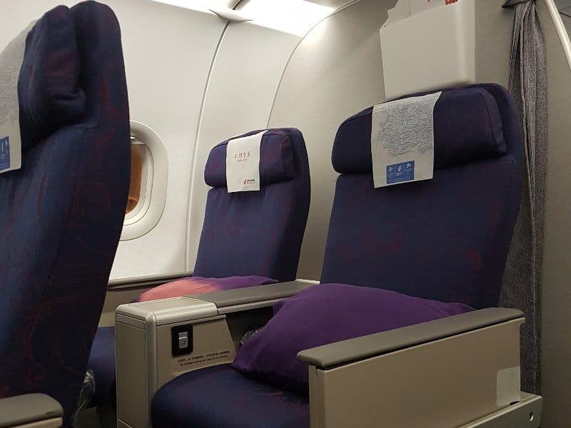 Air China Busness Class im Airbus A321