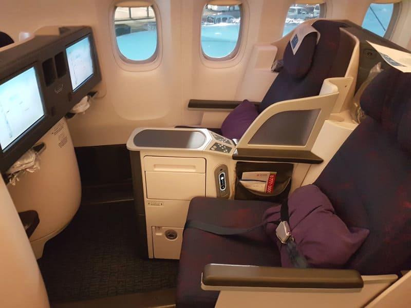 Business Class Kabine im Air China B777-300ER